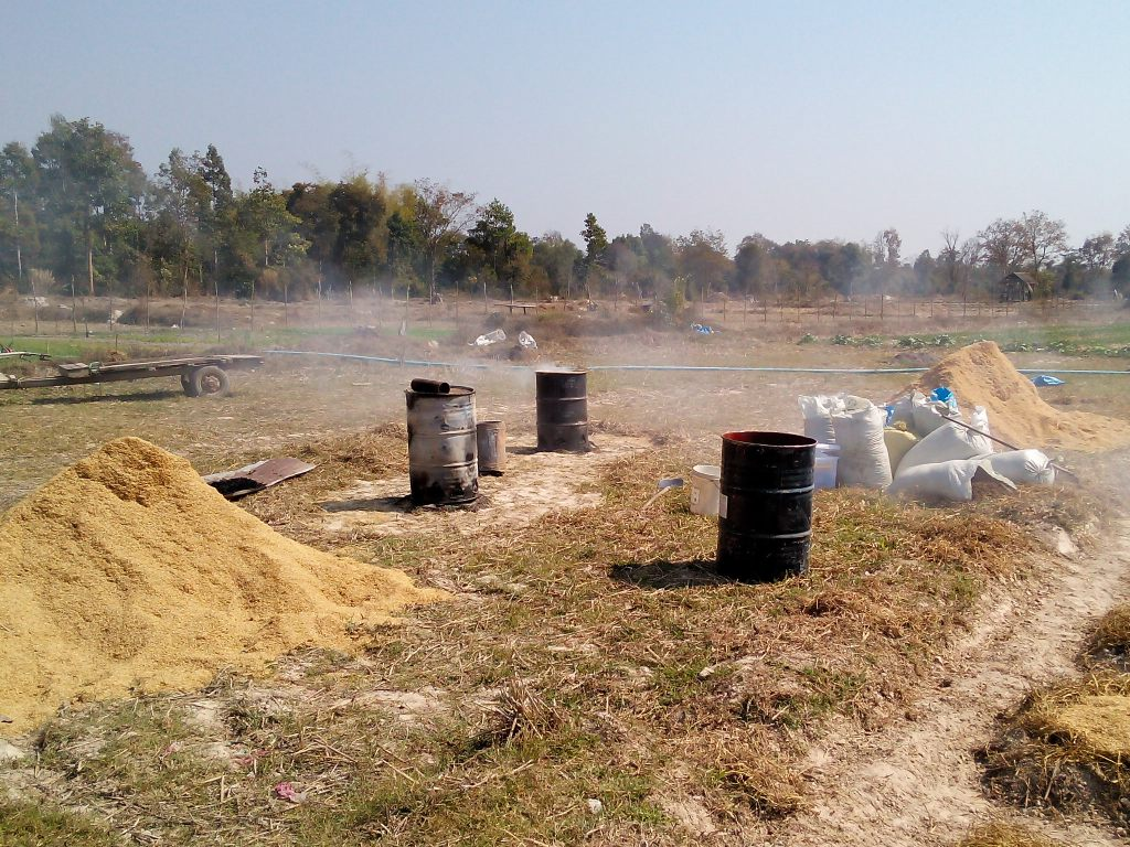 Started producing biochar in late February.