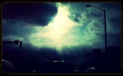 Beauty of the clouds and Sun